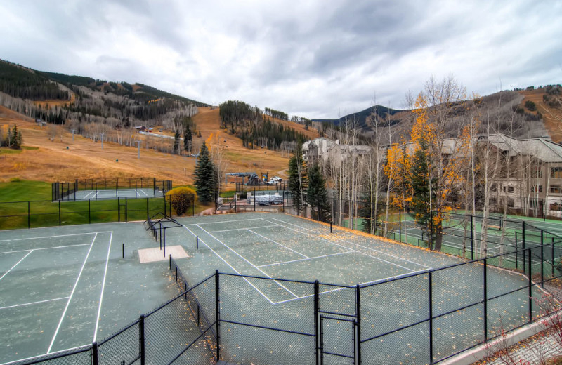 Rental tennis court at Beaver Creek Rentals by Owner.