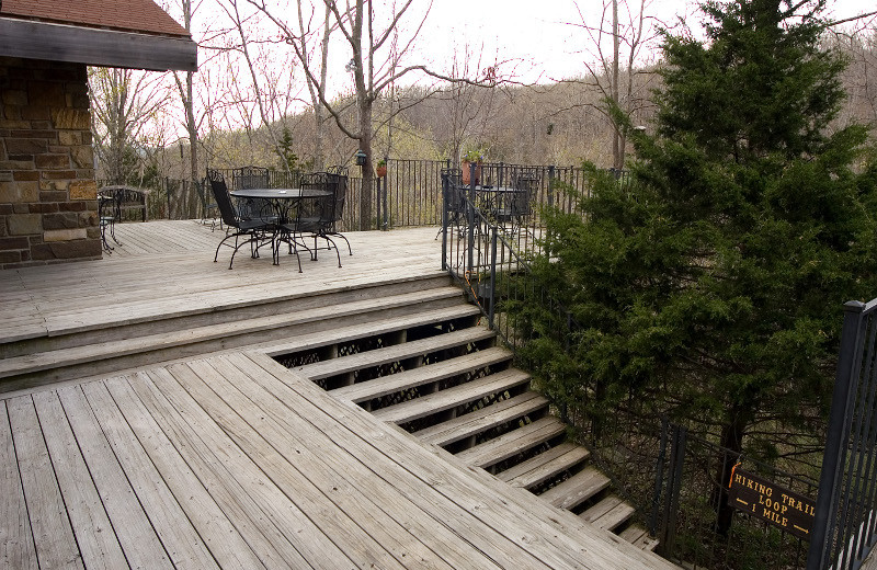 Deck at Azalea Falls Lodge.