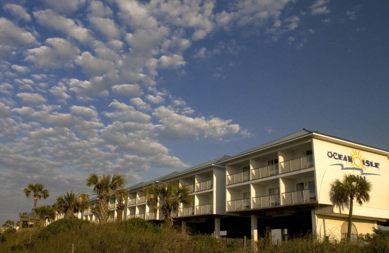 Exterior view of Ocean Isle Inn.