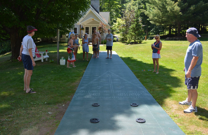 Shuffle board at Port Cunnington Lodge & Resort.