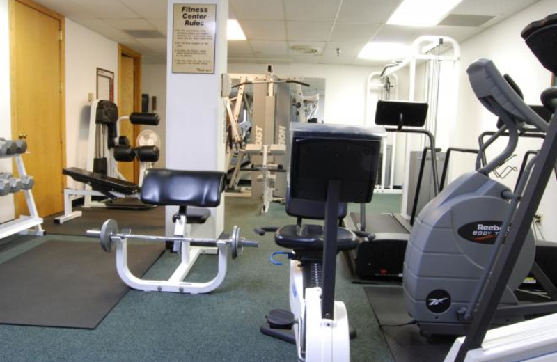 Fitness room at Fitgers Inn.