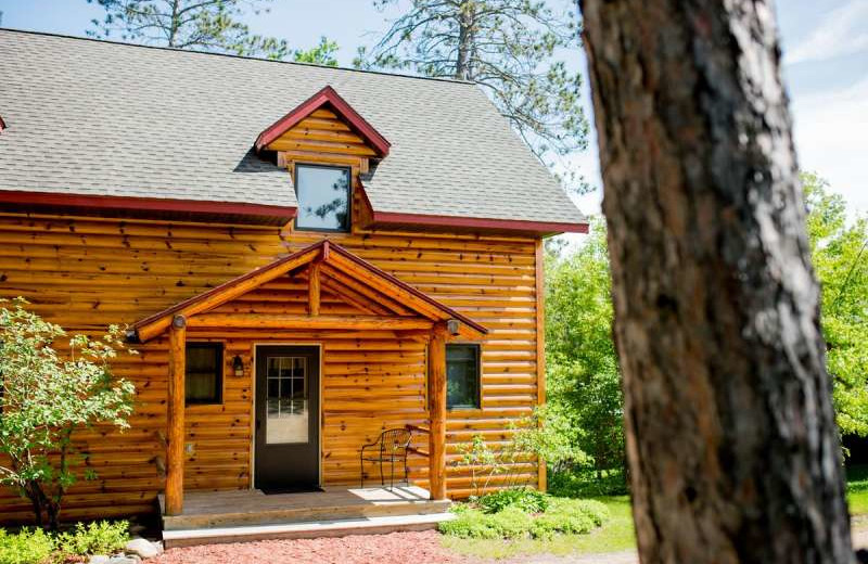 Cabin exterior at Breezy Point Resort on Straight Lake.