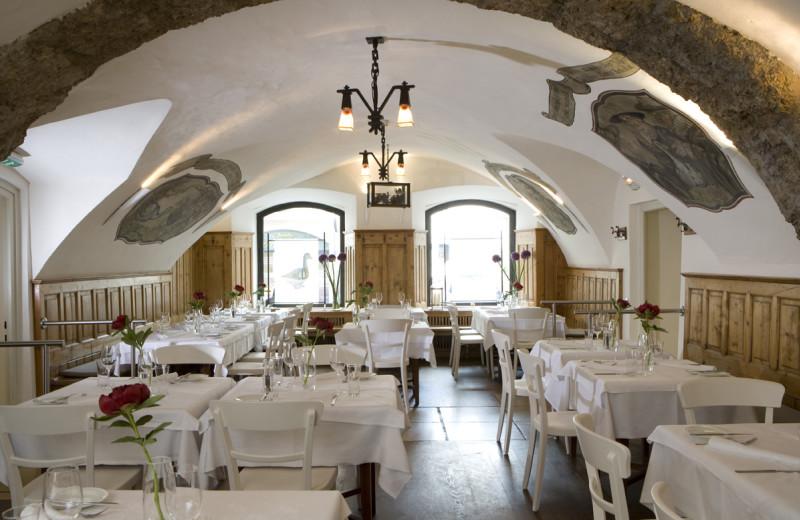 Dining at Blaue Gans Hotel.