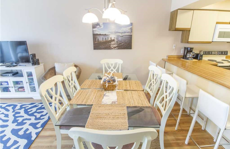 Rental dining room at Vacation Rental Pros - St. Augustine.