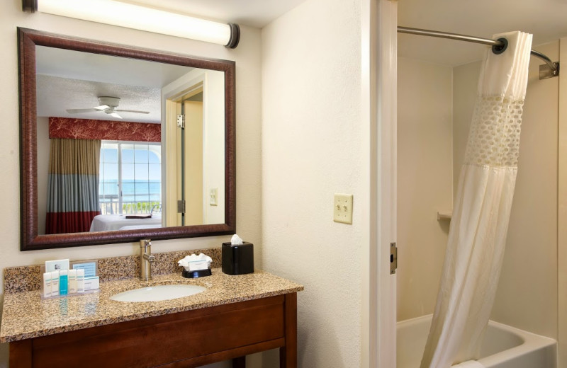 Guest bathroom at Hampton Inn & Suites Outer Banks/Corolla.