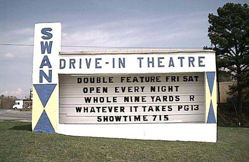 Swan Drive-In Theatre near Black Bear Cabin Rentals.