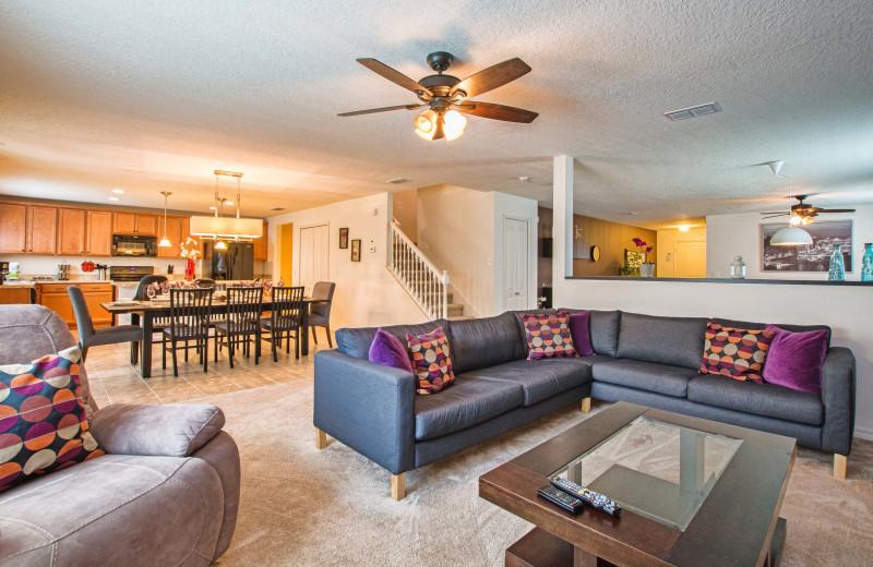 Rental family room at Vacation Pool Homes.