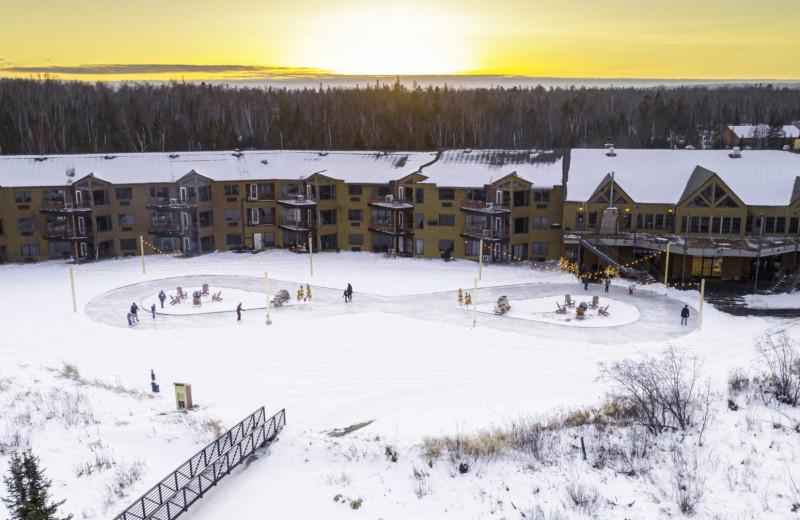 Winter at Superior Shores Resort.