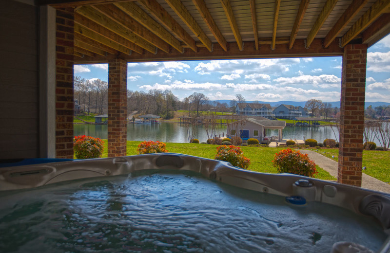 Rental hot tub at Premier Vacation Rentals @ Smith Mountain Lake.