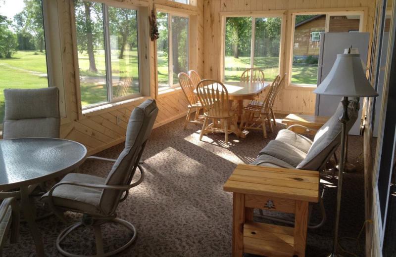 Sun porch at Weslake Resort.