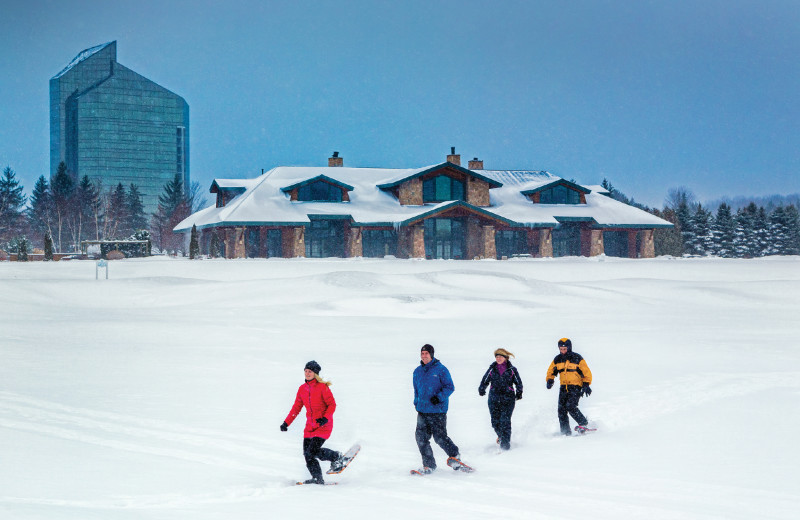 Snowshoeing at Grand Traverse Resort and Spa.