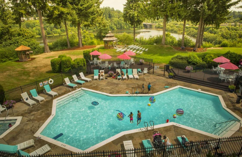 Outdoor pool at Red Lion Hotel Olympia.