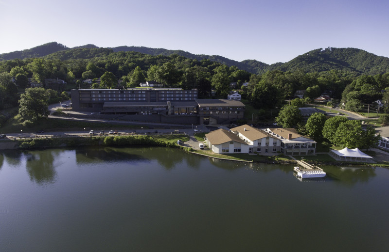 The Terrace hotel offers guests extraordinary views of Lake Junaluska.