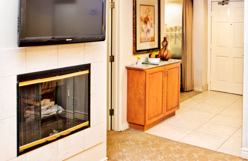 Fireplace in a Two Bedroom Unit at the Coronado Beach Resort