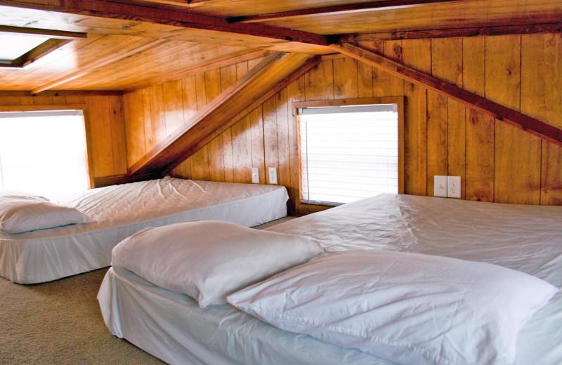 Cabin loft at Yogi Bear's Jellystone Park Memphis.