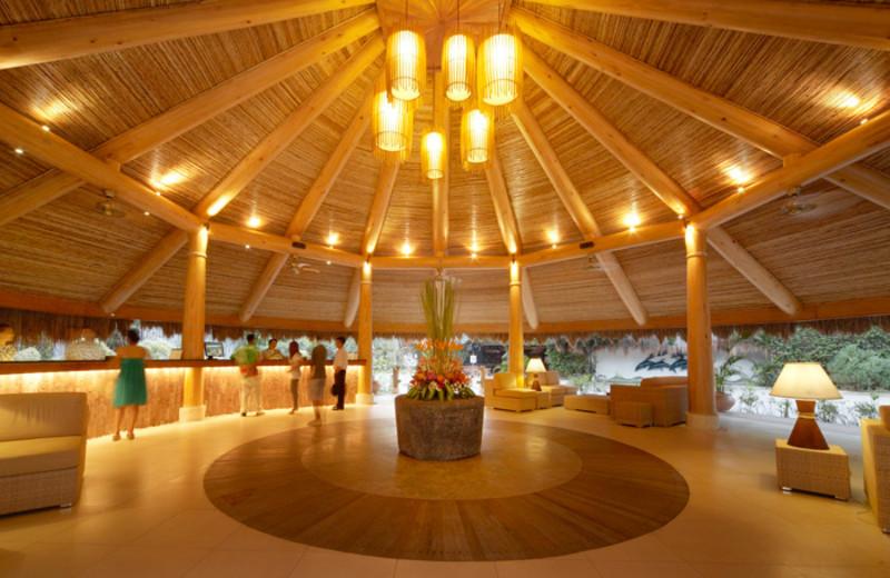 Lobby at Maribago Bluewater Beach Resort.