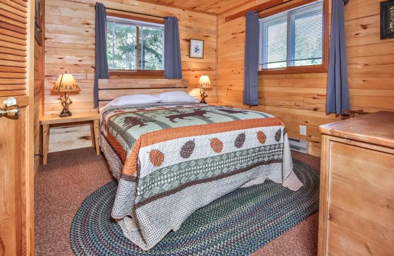 Rental bedroom at Hiller Vacation Homes.
