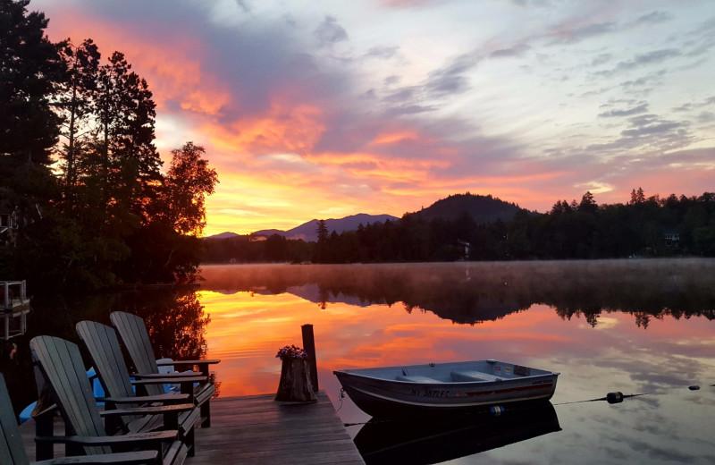 Sunset at Mirror Lake Inn Resort & Spa.