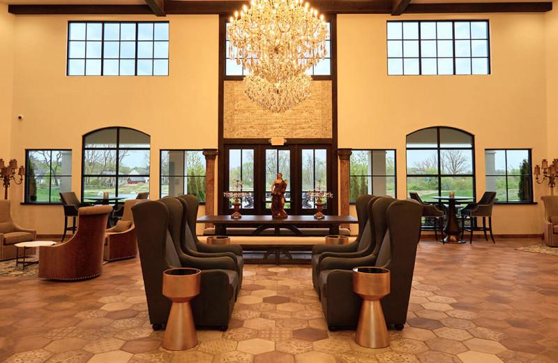 Lobby at Gervasi Vineyard.