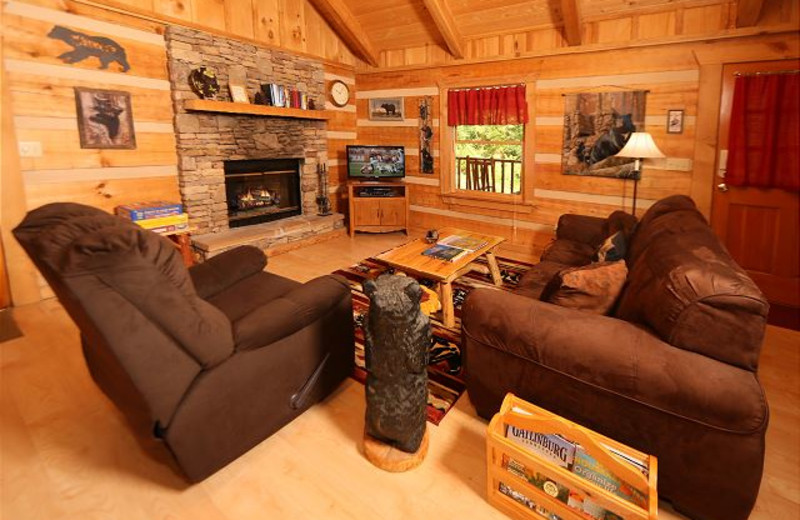 Cabin living room at Eden Crest Vacation Rentals, Inc.