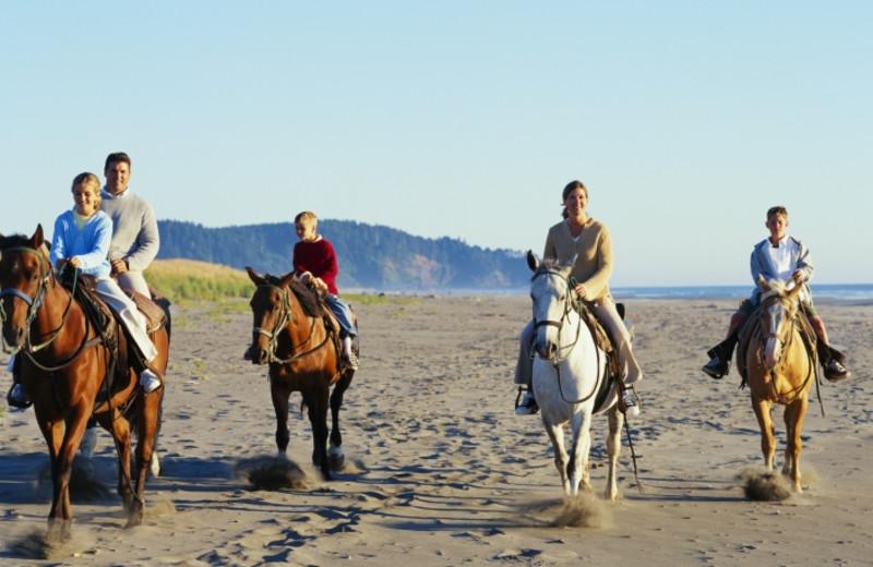 Horseback riding at Shorepine Vacation Rentals.