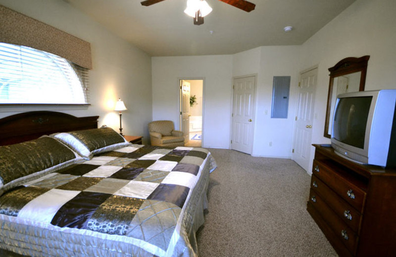 Rental bedroom at Stonebridge Resort.