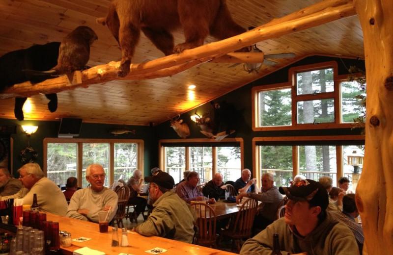 Dining at Lac La Belle Lodge.