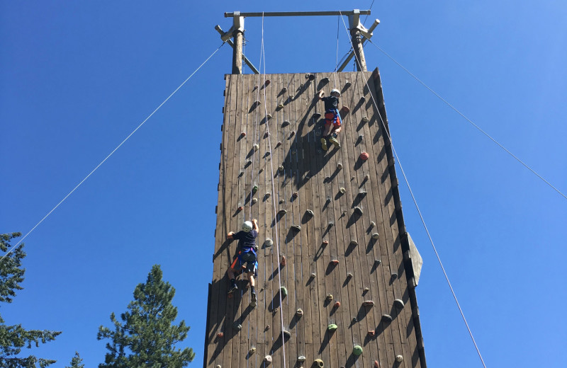 Climbing wall at Red Horse Mountain Ranch.