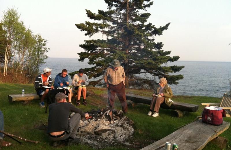 Campfire at Thomsonite Beach Inn