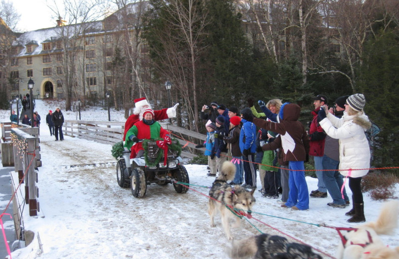 Santa at Waterville Valley.