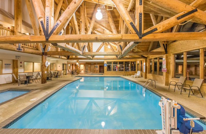 Indoor pool at Grand Ely Lodge.