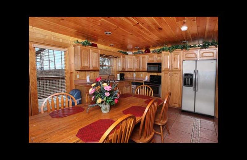 Cabin kitchen at Eden Crest Vacation Rentals, Inc. - Party Hut.