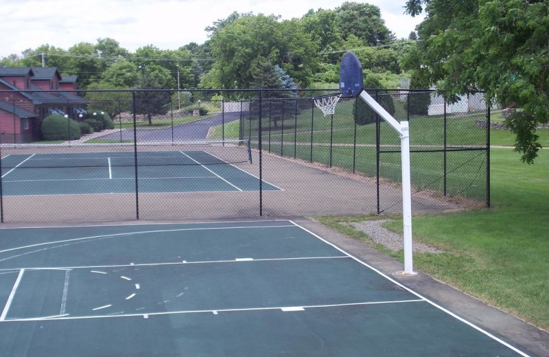 Tennis court at Stone Fence Resort.