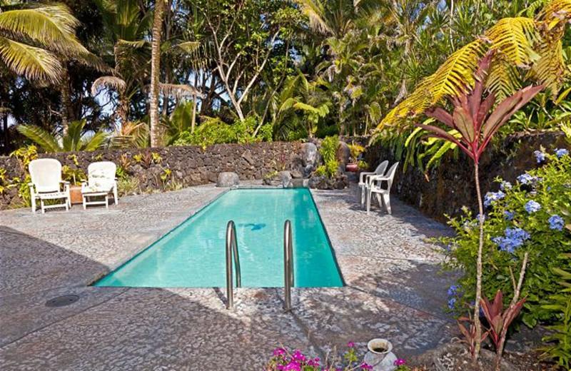 Vacation rental outdoor pool at Big Island Vacation Rentals.