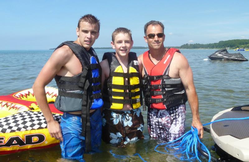 Boating at Lakeshore Resort TC.