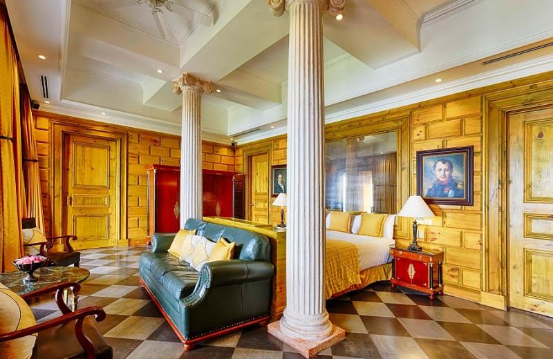 Guest room at Villa Caletas.