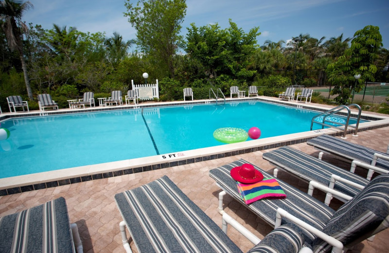 Outdoor pool at Pelicans Roost Condominiums.