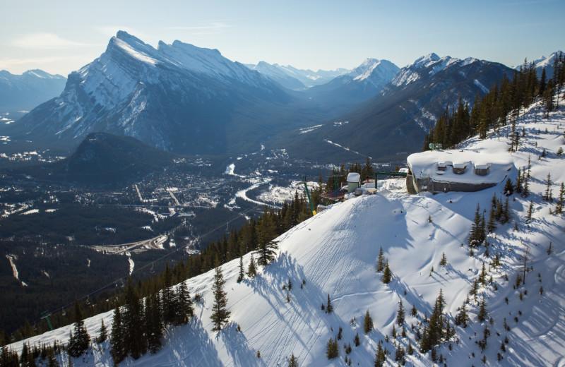 Mountain near Banff Rocky Mountain Resort.