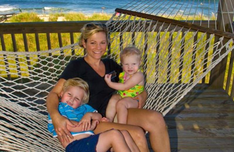 Family On Hammock at Hatteras Realty