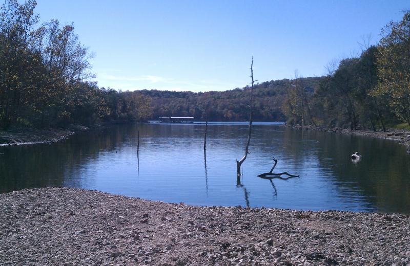 Lake view at Alpine Lodge Resort.