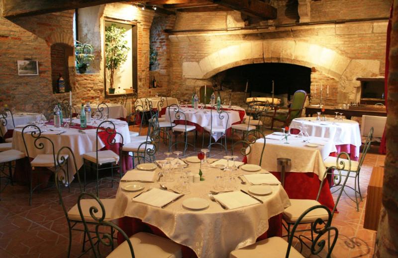 Dining at Château de Terrides.