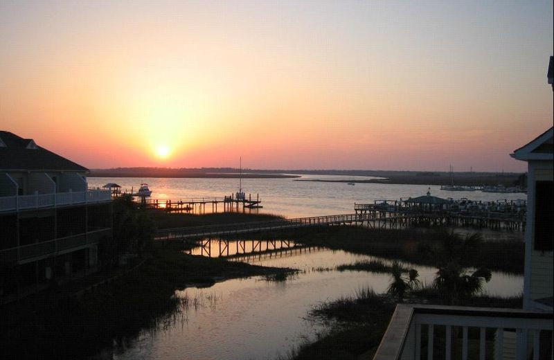 Sunset at Vacation Rentals Folly Beach.