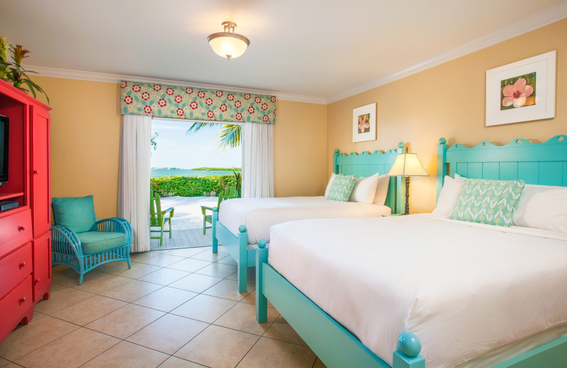 Guest room at Parrot Key Resort.