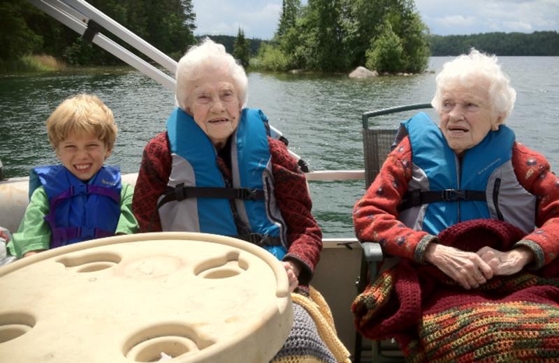 Boating at Buckhorn on Caribou Lake.