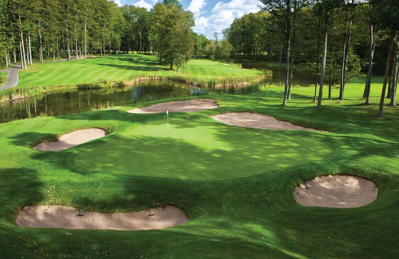 Golf course at Grand Traverse Resort.