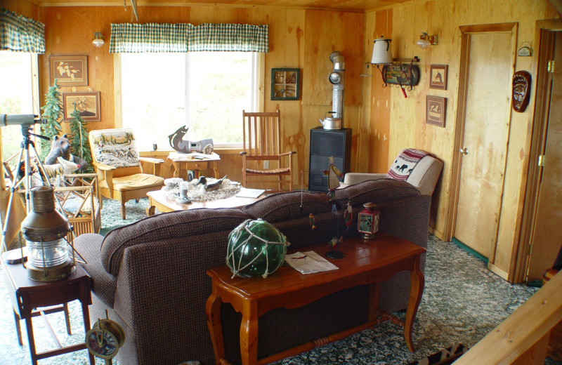 Living room at Olga Creek Lodge.