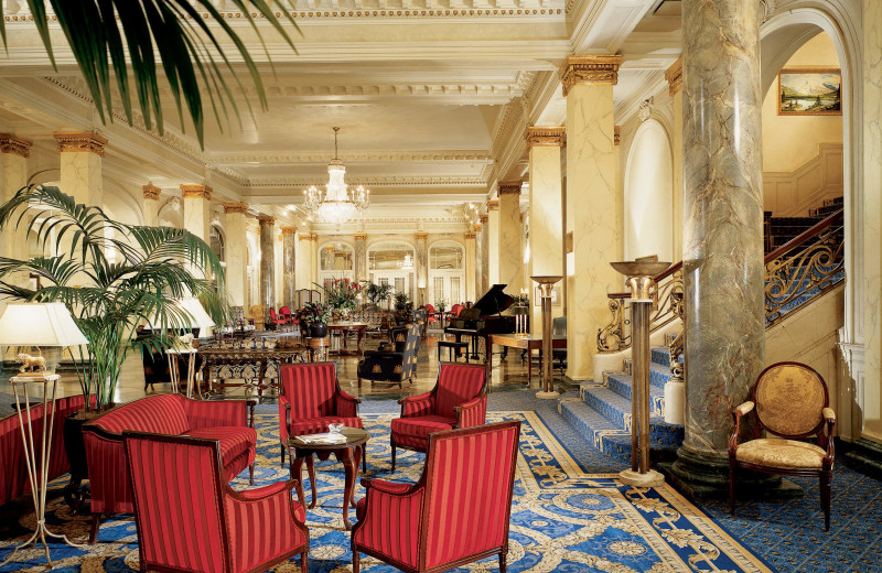 Lobby at The Fairmont Palliser.