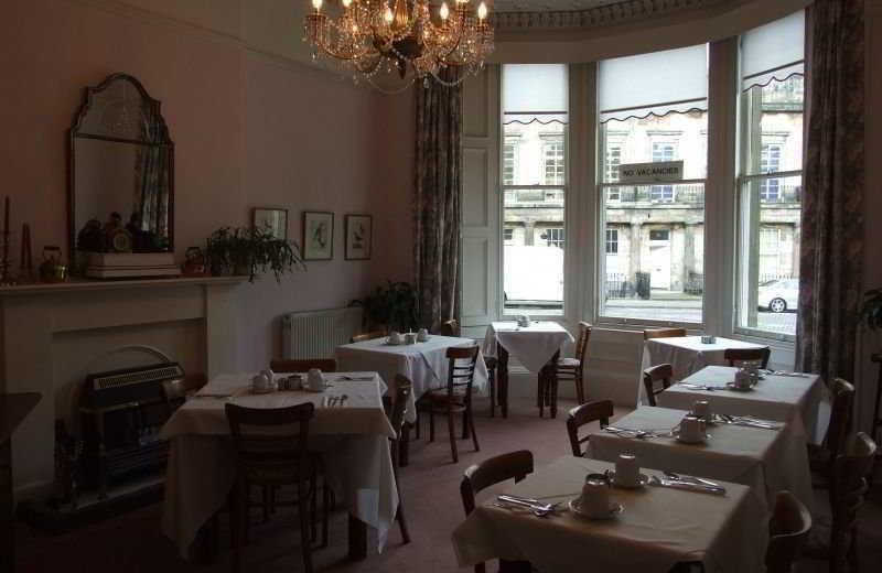 Dining at St Bernards House.