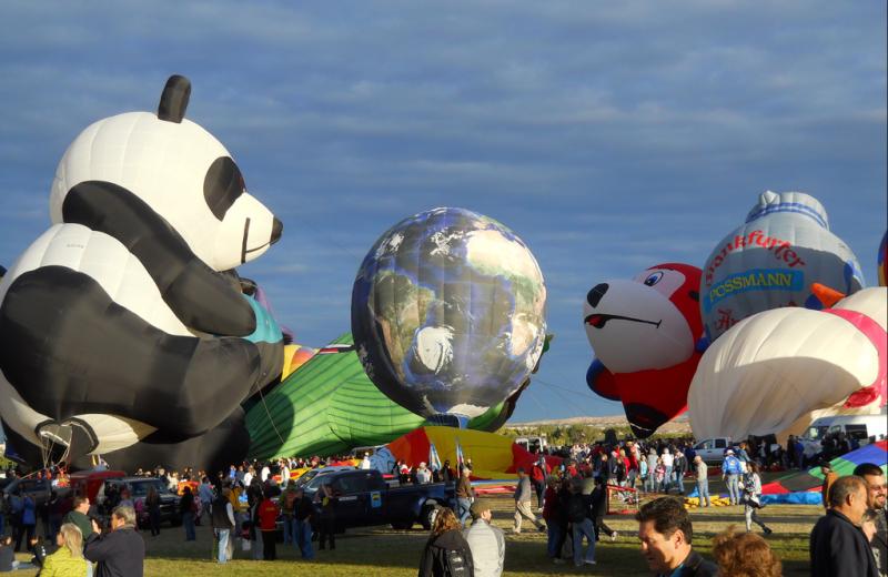 Balloon festival at American RV Park.