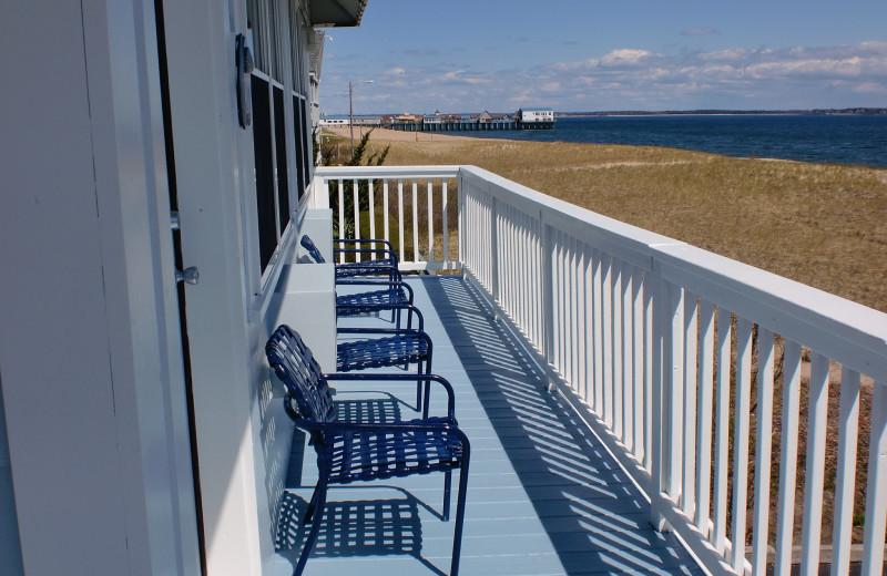 Balcony view at The Edgewater Motor Inn.
